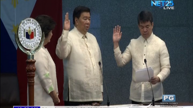 Senator Franklin Drilon elected as Senate President Pro-Tempore