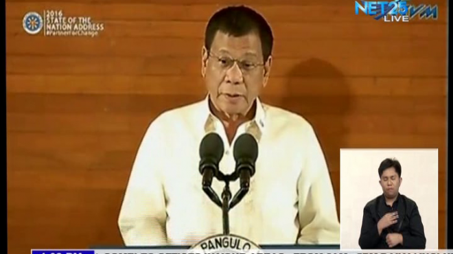 President Rodrigo R. Duterte starts his First State of the Nation Address