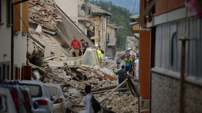 Scenes from the M 6.2 earthquake in Italy