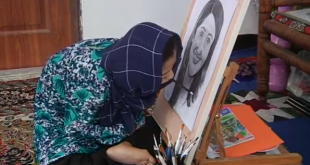 Disabled Afghan girl painter dreams of a bright future