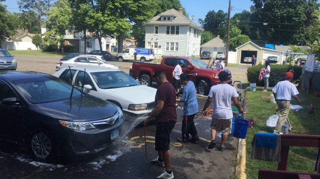 INC members in Connecticut host free car wash to the community