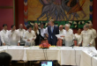The Philippine government and the National Democratic Front sign an indefinite ceasefire deal to facilitate peace talks aimed at ending one of Asia's longest-running insurgencies.  (Photo grabbed from AFP video)