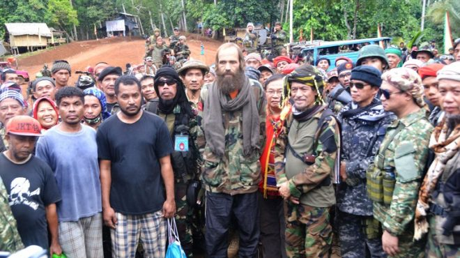 Turn-over ceremony for Norwegian, 3 Indonesians released by Abu Sayyaf in Sulu