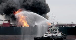 Fuel tanker fire extinguished in Gulf of Mexico