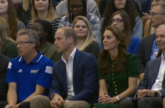 The Duke and Duchess of Cambridge continue tour of Canada with a stop at University of British Columbia Okanagan campus. (Photo captured from Reuters video)