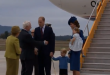 Prince William and Kate, Britain's Duke and Duchess of Cambridge, and their children Prince George and Princess Charlotte, begin their visit to Canada where they are welcomed by Canadian Prime Minister Justin Trudeau.(Photo grabbed from Reuters video)