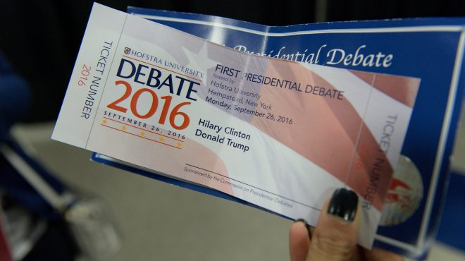Clinton's name misspelled on souvenir debate tickets