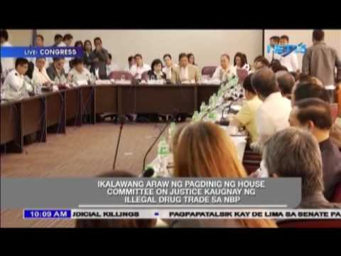 Day 2 of House of Representatives legislative inquiry into the alleged illegal drug trade in the NBP