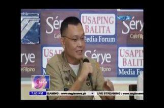 Lt. Col. Marcelino, naghanda ng affidavit sa nalalaman niya sa illegal drugs