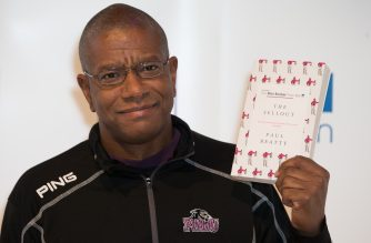 (FILES) This file photo taken on October 24, 2016 shows US author Paul Beatty posing for a photograph at a photocall in London on October 24, 2016. US author Paul Beatty became the first US author to win the Man Booker Prize for Fiction when he won the award on Tuesday October 25, 2016. / AFP PHOTO / DANIEL LEAL-OLIVAS