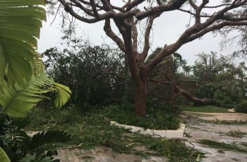 Hurricane Matthew aftermath in Nassau Bahamas