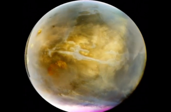 NASA camera reveals previously unseen Mars cloud formations in ultraviolet colours(photo grabbed from Reuters video)