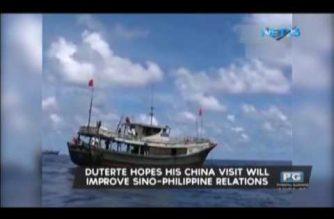 Duterte hopes his China visit will improve Sino-Philippine relations
