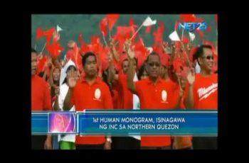 Human monogram, isinagawa ng Iglesia Ni Cristo sa Northern Quezon