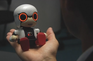 Toyota unveils KIROBO mini, a robot that will potentially appeal to an aging population where human interactions are decreasing for some.   (Photo grabbed from Reuters video/Courtesy Toyota Motors Corporation)