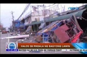 Pinsala ng Bagyong 'Lawin' umabot na sa halos 3B