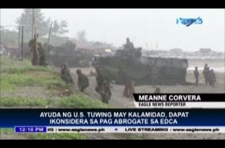 US aid during calamities should be considered before EDCA abrogation