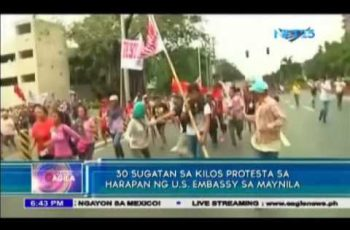 WATCH: Philippine police van runs over protesters
