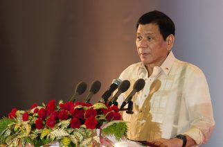 (File photo) Philippine President Rodrigo Duterte speaks during the closing ceremony of the Association of Southeast Asian Nations (ASEAN) and handover of the ASEAN chairmanship to the Philippines in Vientiane on September 8, 2016. ASEAN leaders gather in Vientiane for the 28th and 29th ASEAN Summits held between September 6 to 8. / AFP PHOTO / YE AUNG THU