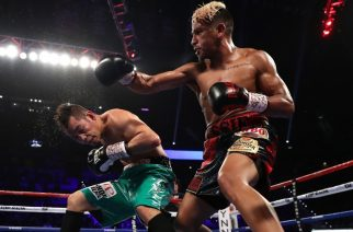 LAS VEGAS, NV - NOVEMBER 05: (R-L) Jessie Magdaleno lands a right to the head of Nonito Donaire of the Philippines during their WBO junior featherweight championship fight at the Thomas & Mack Center on November 5, 2016 in Las Vegas, Nevada.   Christian Petersen/Getty Images/AFP