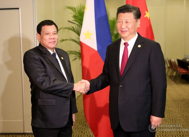 News in photo:  President Duterte and Chinese President Xi Jinping in Peru bilateral meeting