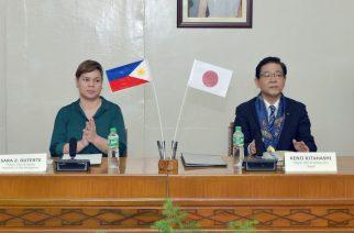 Davao City Mayor Inday Sara Duterte and Mayor Kenji Kitahashi ng Japanese City of Kitakyushu (Photo courtesy: City Govt. of Davao)
