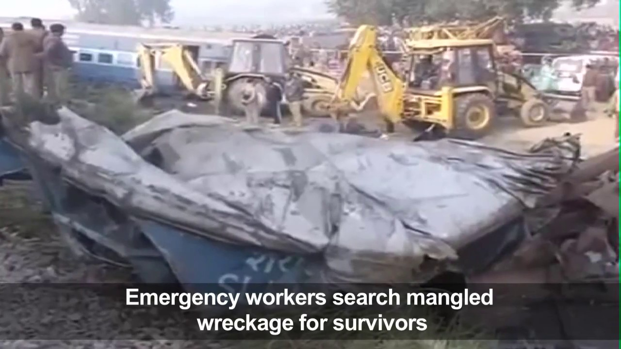 At least 120 killed as Indian train derails