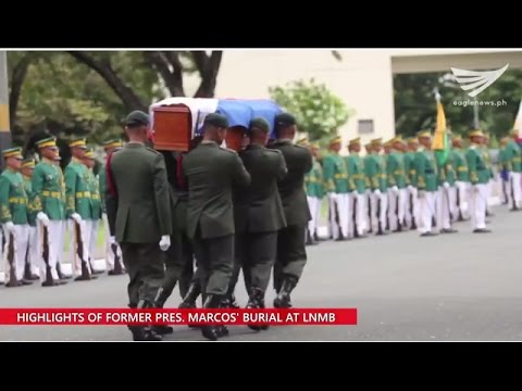 Watch:  Video of the burial ceremonies for the late President Marcos