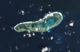 "This satellite image taken on November 30, 2016 and released on December 9, 2016 by US-based Planet Labs shows dredging work (C below) on a small reef under Vietnamese control in the South China Sea. Vietnam has started dredging work on reef in the South China Sea, fresh satellite images appear to show, a move that could provoke Beijing which claims most of the disputed waterway. / AFP PHOTO / PLANET LABS / HO / RESTRICTED TO EDITORIAL USE - MANDATORY CREDIT ""AFP PHOTO / PLANET LABS"" - NO MARKETING NO ADVERTISING CAMPAIGNS - DISTRIBUTED AS A SERVICE TO CLIENTS == NO ARCHIVE"