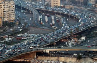 A picture dated on February 2, 2012 shows traffic moving along the 6 October bridge in Cairo. AFP PHOTO/ KHALED DESOUKI / AFP PHOTO / KHALED DESOUKI