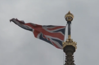 British national flag. (Photo courtesy of Reuters video file)