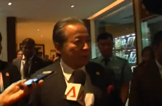 ASEAN Foreign Ministers meet in Yangon to discuss the military-led crackdown on Muslim Rohingyas in Myanmar's Rakhine State. (Photo grabbed from Reuters video)