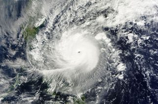 Typhoon Nock-ten (A.K.A Typhoon NINA in the Philippines) approaching the Bicol Region of the Philippines at peak intensity on December 25, 2016. Photo is courtesy of wikipedia