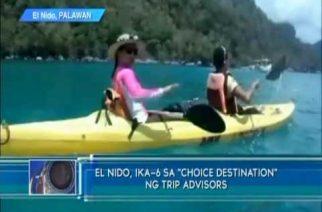 """El Nido, ika-6 sa """"choice destination"""" ng trip advisors"""