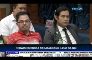 Kerwin Espinosa nakatakdang ilipat sa NBI