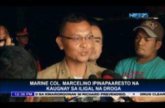 Marine Col. Marcelino ipinapaaresto na kaugnay sa iligal na droga