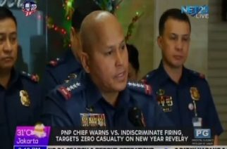 PNP Chief eyes zero casualty on New Year revelry