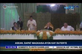 President Duterte calls for a united ASEAN