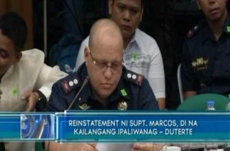 President Duterte says he wants reinstatement of cop who led 2016 raid vs drug suspects in Leyte