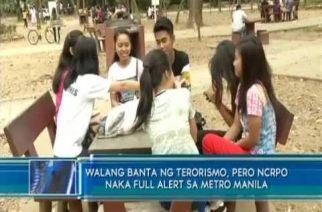 Walang banta ng terorismo, pero NCRPO naka full alert sa Metro Manila