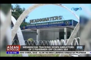 WESMINCOM task force tracking down abductors of 3 fishermen off Celebes Sea