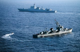 (FILES) This file photo taken on May 5, 2016 shows crew members of China's South Sea Fleet taking part in a drill in the Xisha Islands, or the Paracel Islands in the South China Sea.  China warned Washington January 24, 2017 that it would not back down over its claims in the disputed South China Sea, following vows by the Trump administration to defend US and international interests there. / AFP PHOTO / STR / China OUT