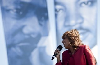 WASHINGTON - OCTOBER 16: Singer Jennifer Holliday performs during a dedication ceremony at the Martin Luther King Memorial on the National Mall October 16, 2011 in Washington, DC. President Barack Obama, entertainers, civil rights leaders and others attend the ceremony to formally dedicate the memorial to the civil rights leader Rev. Dr. Martin Luther King who was assassinated in 1968.   Brendan Smialowski/Getty Images/AFP