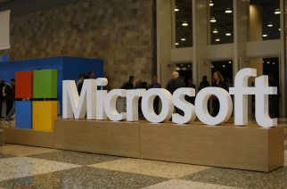 FILE PHOTO: SAN FRANCISCO, CA - APRIL 29: A Microsoft logo is seen during the 2015 Microsoft Build Conference on April 29, 2015 at Moscone Center in San Francisco, California. Thousands are expected to attend the annual developer conference which runs through May 1.   Stephen Lam/Getty Images/AFP