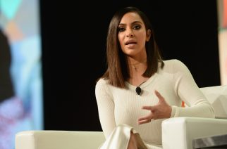 LOS ANGELES, CA - AUGUST 05: Kim Kardashian West speaks druing the #BlogHer16 Experts Among Us conference at JW Marriott Los Angeles at L.A. LIVE on August 5, 2016 in Los Angeles, California.   Matt Winkelmeyer/Getty Images/AFP
