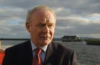 Northern Ireland Deputy First Minister Martin McGuinness says he will resign in protest against his power-sharing government partners' handling of a controversial energy scheme.(photo grabbed from Reuters video)