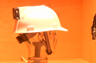 Migrant workers building soccer stadiums in Qatar's desert heat are to be given 'cooling' hard hats to reduce their body temperature and risk of suffering heat stroke. (Photo grabbed from Reuters video