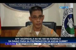 AFP sends military personnel to Davao City in preparation of the ASEAN Summit