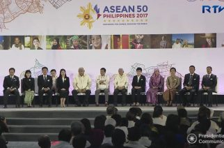 The Philippine chairmanship of the ASEAN is launched in Davao City with President Rodrigo Duterte and the ambassadors of the ASEAN member nations.  (Photo grabbed from RTVM video)