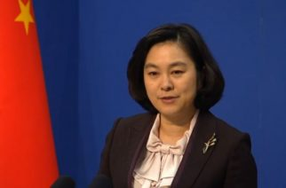 China Foreign Ministry spokeswoman Hua Chunying.  (Photo grabbed from Reuters video)